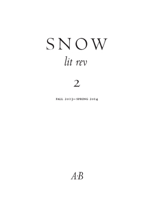 Snow lit rev, no. 2