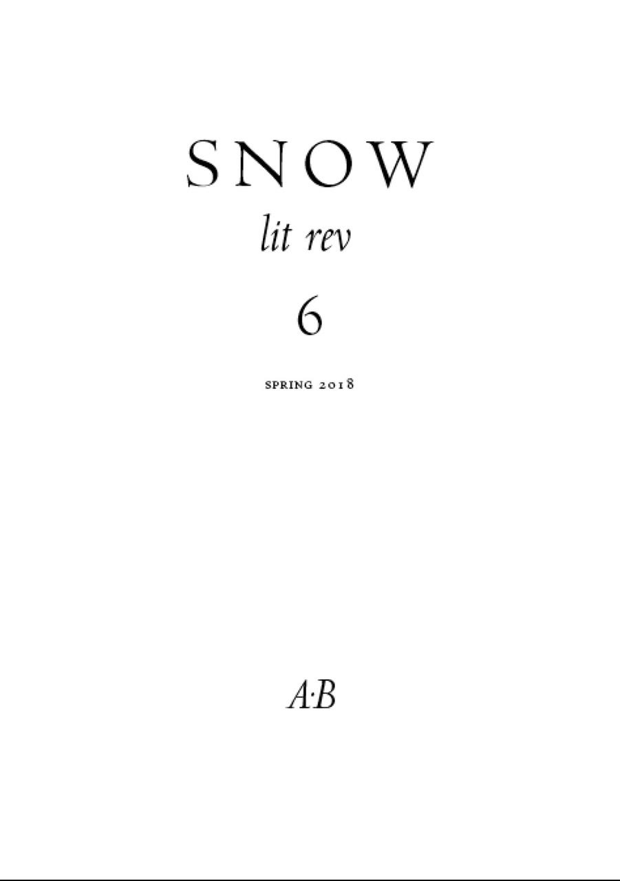 Snow lit rev, no. 6