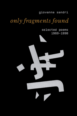 only fragments found: selected poems, 1969-1998