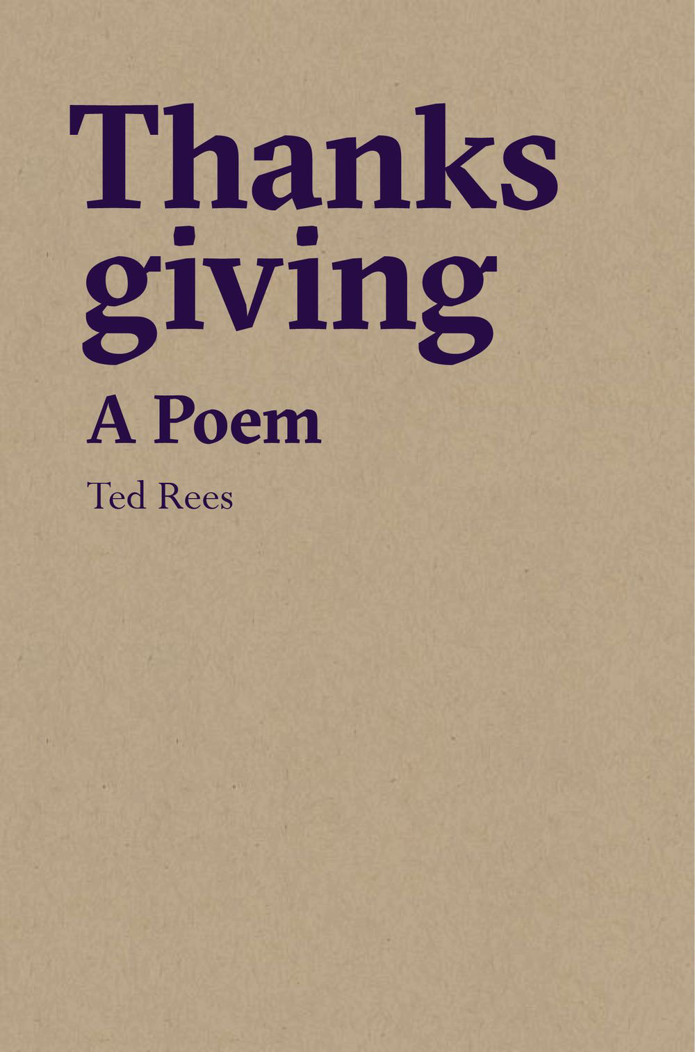 Thanksgiving: A Poem