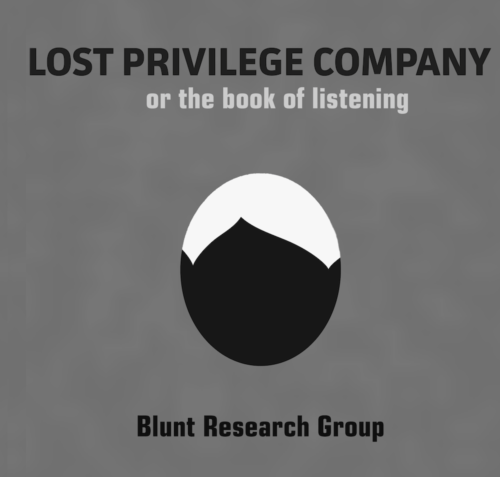 lost privilege company   blunt research group   noemi press