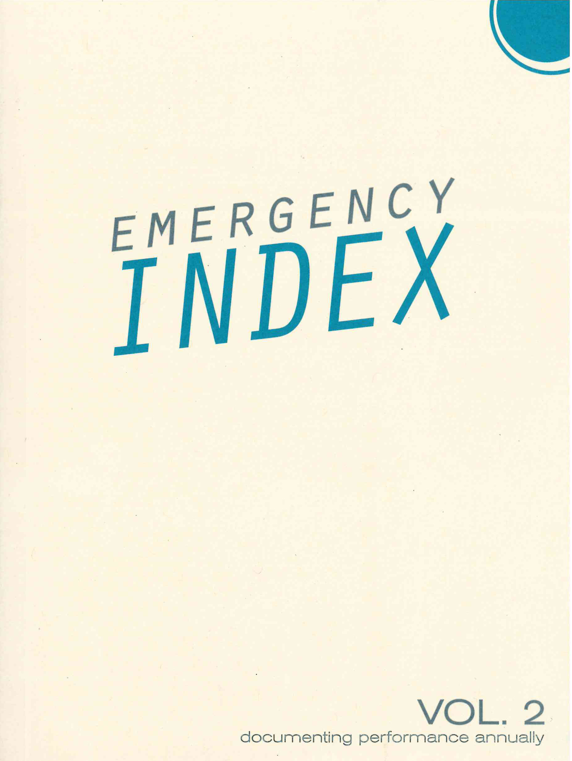 Emergency INDEX, Volume 2: 2012