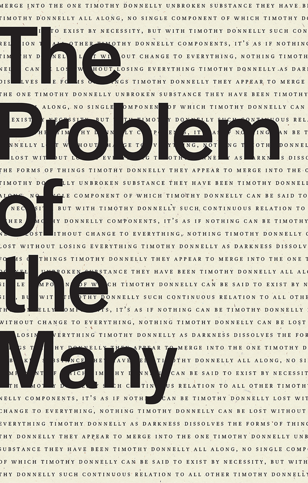 The Problem of the Many By Timothy Donnelly | Wave Books, 2019