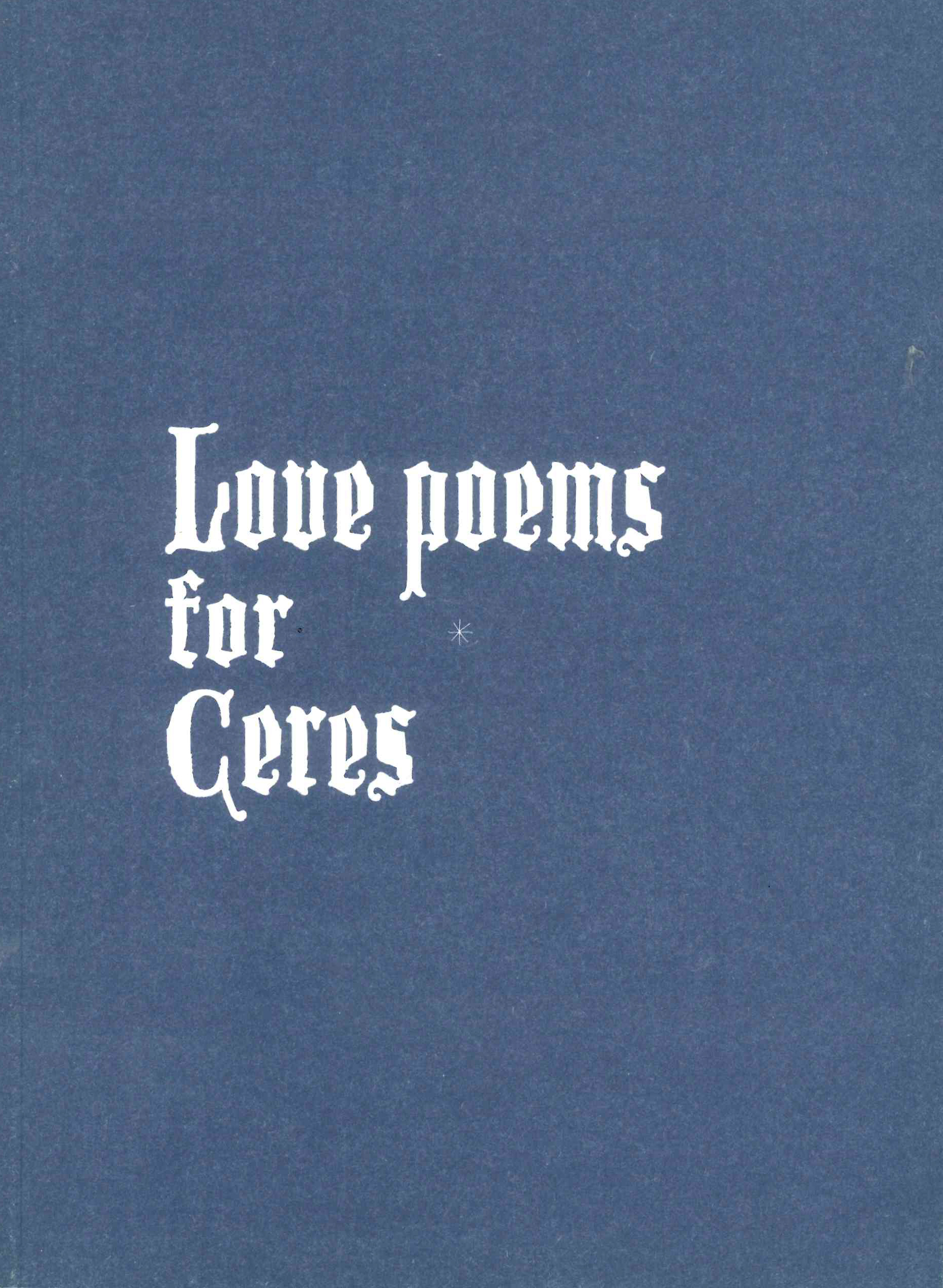 Love Poems for Ceres