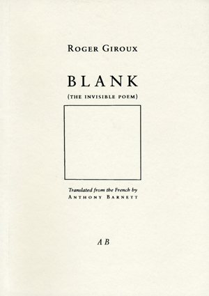 Blank (The Invisible Poem)