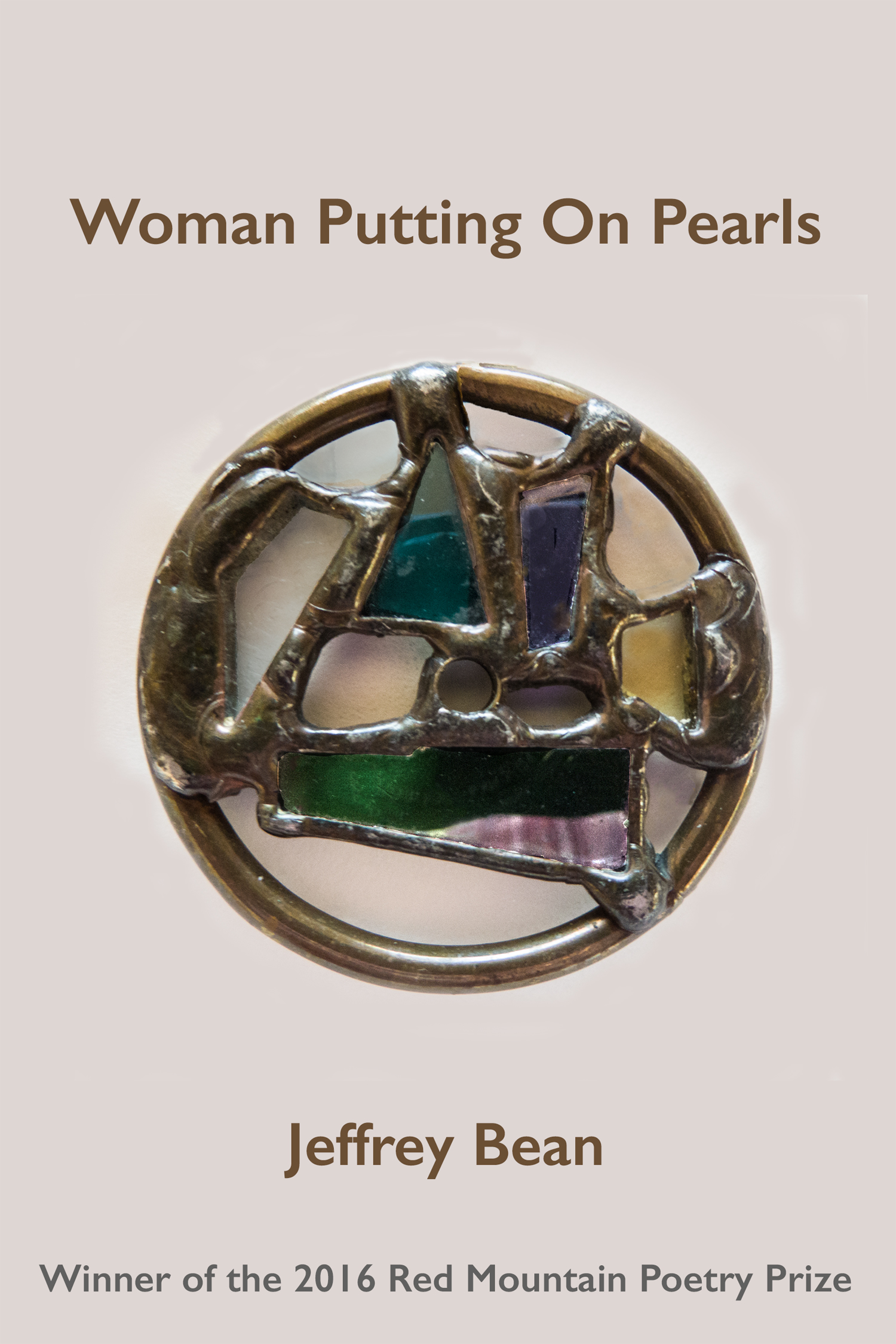 Woman Putting On Pearls