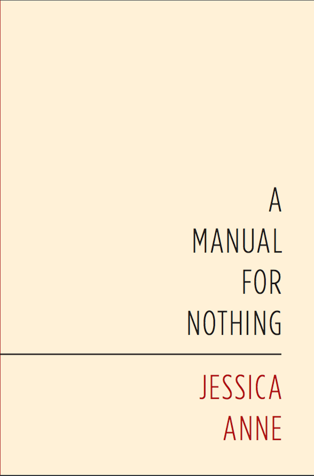 A Manual For Nothing