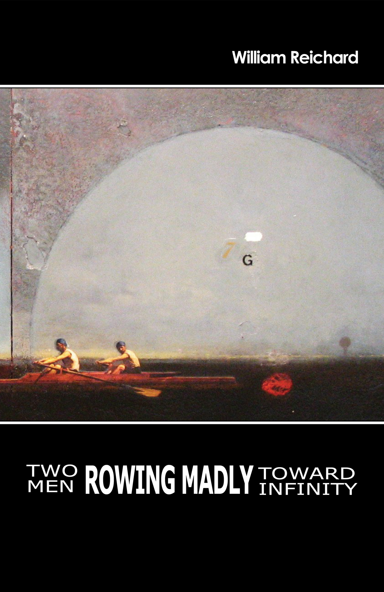 Two Men Rowing Madly Toward Infinity