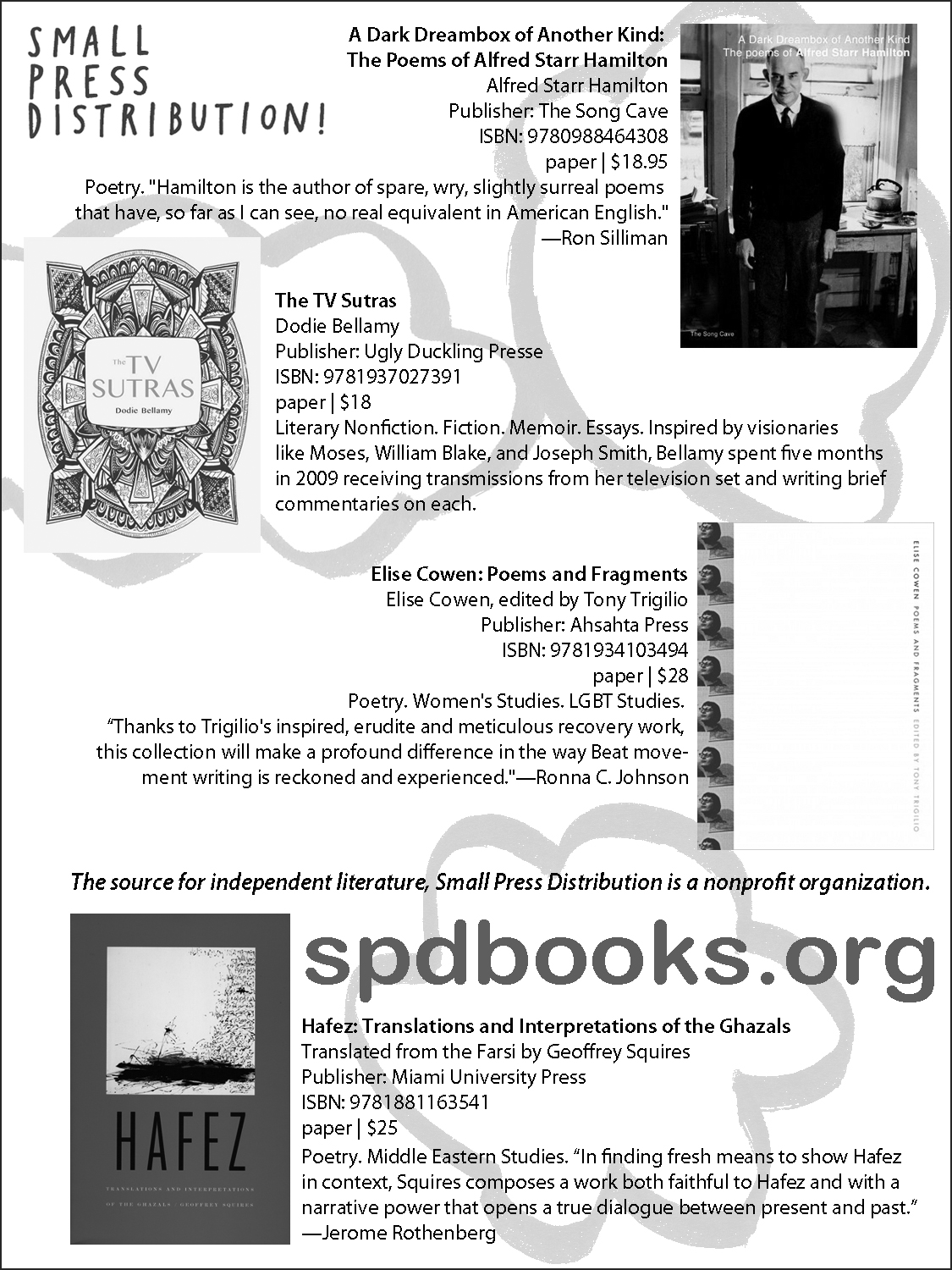 SPD in BOMB! Summer Issue, 2014