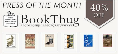 BookThug Press of the Month!