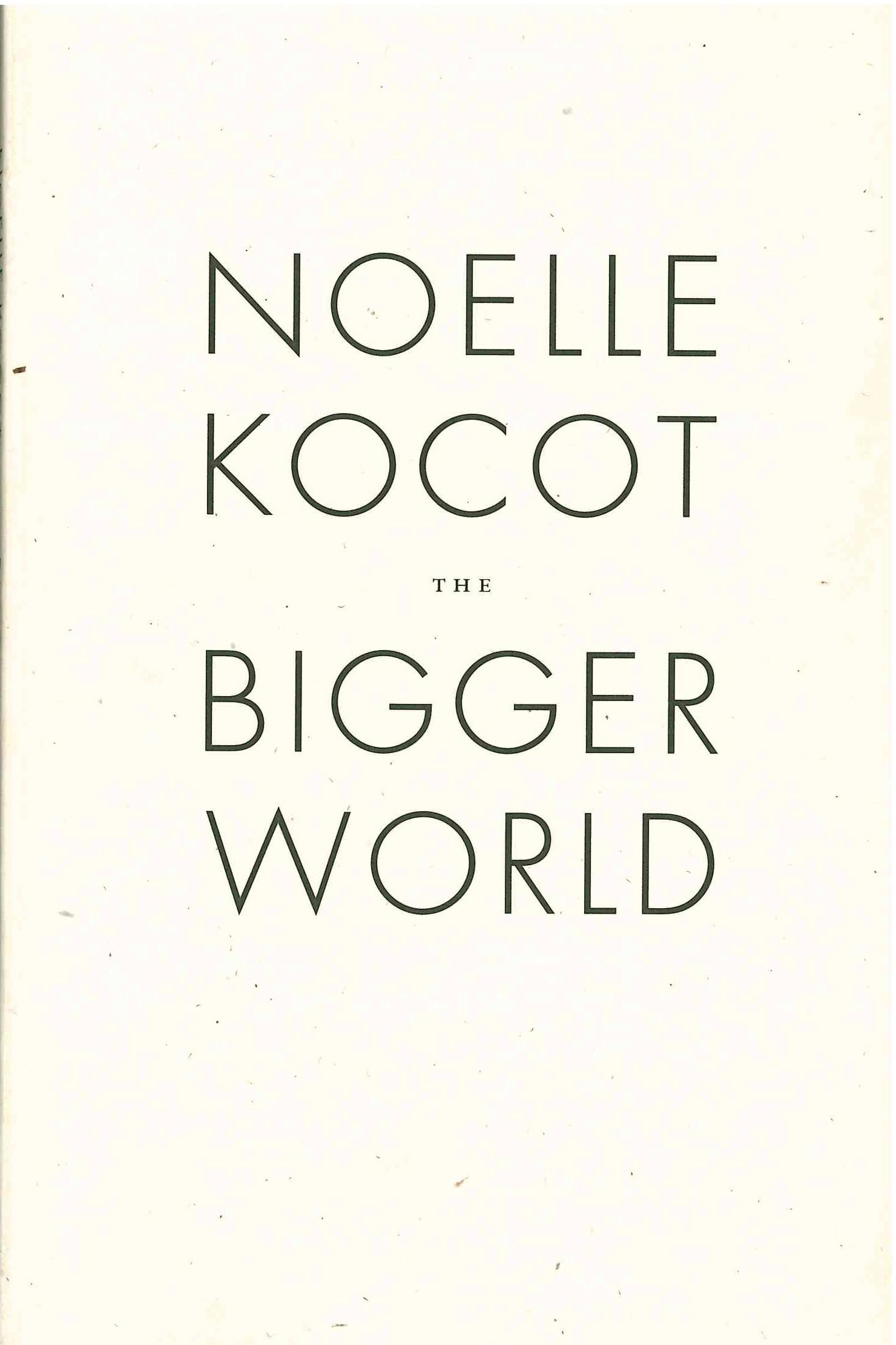 The Bigger World | Noelle Kocot | Wave Books