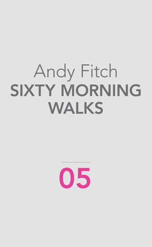 Sixty Morning Walks | Andy Fitch | Ugly Duckling Presse